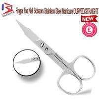 Super Sharp Narrow Edge Cuticle Nail Scissors Arrow Point Silver Steel Nose Hair
