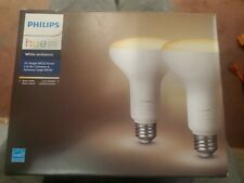 Philips Hue Ambiance Br30 Dimmable Led Smart Flood Light - White, Pack of 2