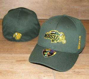 North Dakota State Bison NDSU Memory Fit Flex Fitted Hat Cap Men's size L/XL