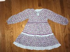 Adorable Healthtex Dress Long Sleeves loral Girl Size 6