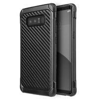 For Samsung Galaxy S10/Plus/S10e Black Carbon Fiber TPU Armor Hybrid Phone Case