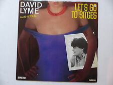 "MAXI 12"" DAVID LYME Let's go to sitges 8589"