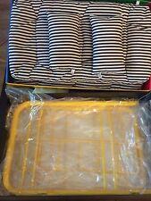 American Girl Retired Yellow Bunk Bed Set With Ladder Black & White Bedding BNIB
