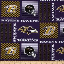 "Baltimore Ravens NFL Cotton Fabric 60"" Width Sold by the Yard"