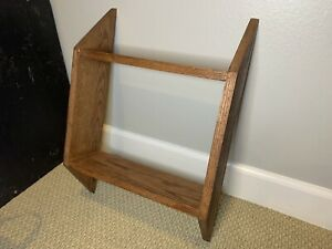Small Oak Shelf finished with Dark Stain 22x16x5