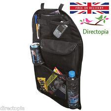 Black Car Back of Seat Organiser Tidy Multi Storage Pockets Toys Gadgets Drinks