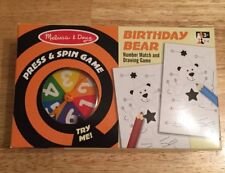 Melissa & Doug Press and Spin Game Birthday Bear Number Match and Drawing Game