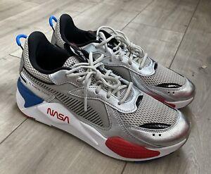 Chaussures NASA Puma RS-X Space Agency Silver White - Rsx gris blanc