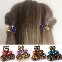 Rétro femmes filles mini papillon cheveux clip résine épingles griffe biWLFR