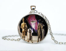 Star Wars Photo Cabochon Glass Tibet Silver Chain Pendant Necklace AAA71