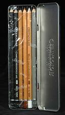 6 Piece Cretacolor Basic Drawing Set NEW Artist Quality Graphite, Charcoal, Tin