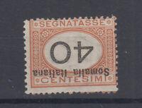 COLONIE SOMALIA 1926 SEGNATASSE 40 C. VARIETA' N.45a G.I MNH**