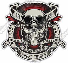 "Born To Ride Chopper Bike Speed Biker Skull Car Bumper Vinyl Sticker Decal 4""X5"""