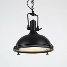 Black Chandelier Lobby Antique Ceiling Lights Kitchen Glass LED Pendant Lighting