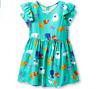 Cat & Jack Toddler Girls' Short Sleeve Cat A-Line Dress – Iridescent Green 4T