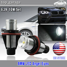 2x BMW E39 E60 E87 X5 LED Angel Eye Halo Ring Marker Side Light White LED Bulbs