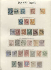 NETHERLANDS 1852-1964 COLLECTION ON ALBUM PAGES MINT USED beautiful collection m