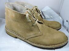 Clarks Originals Desert Boots Tan Beige Suede Leather Ankle Boots Women Sz. 9 M