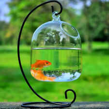 Modern Round Shape Hanging Glass Aquarium Fish Bowl Fish Tank Flower Plant Vase