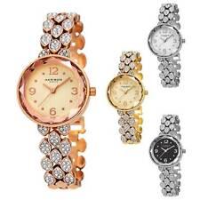 Women's Akribos XXIV AK839 Swarovski Crystal  Studded Link Bracelet Watch