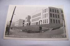 Rare Vintage RPPC Real Photo Postcard 1930-1950 Alaska Juneau Public School Car