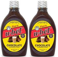 Fox's U-Bet Original Chocolate Flavor Syrup, 22 Oz, (Pack Of 2)