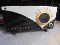 "Vintage TOSHIBA Tube Radio 5LP-160 ""Canary"" Working Retro Japan"