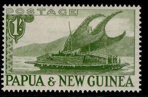 AUSTRALIA - Papua New Guinea QEII SG10, 1s yellow-green, M MINT.