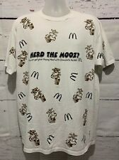 New listing Vintage 1995 McDonalds Promo Shirt Size Xl Milk All Over Print Happy Meal Rare
