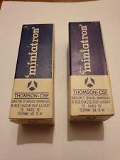 2 x tubes  6AM6 S Military Thomson CSF NOS NIB MINIATRON