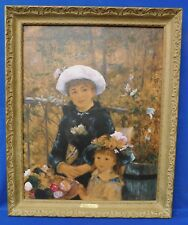 Framed Vintage Lithograph Pierre Auguste Renoir ON THE TERRACE Impressionism