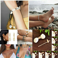 Charm Sea Shell Summer Beach Anklet Chic Necklace Bracelet Earrings Jewelry Gift