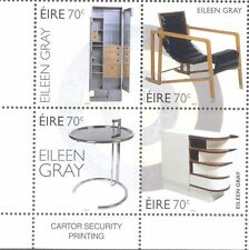 Ireland Eileen Gray-Furniture-Art mnh set 2016