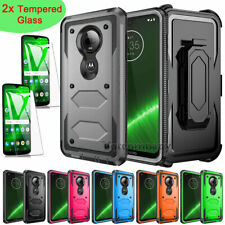 For Motorola Moto G7 Plus/Play/Power/Supra/Optimo/Max Belt Clip Phone Case Cover