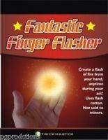 FANTASTIC FINGER FLASHER KIT Flint Pull Fire Magic Trick Flash Cotton Hand Prop