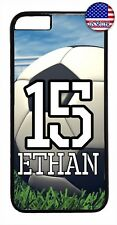 Soccer Ball Case Cover Personalized Number and Name iPhone X Xs Max XR 8 7 Plus