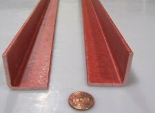 "Fiberglass 90º Angles, Gpo3 Red .125"" Thickness x 1.25"" Arms x 36"" Length, 2 Pc"
