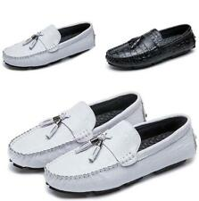 Mens Tassel Round Toe Flats Soft Slip on Loafers Breathable Moccasin Shoes FK15