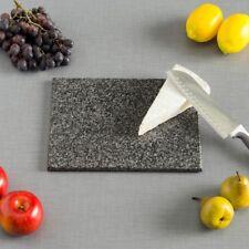 Cutting Board Granite Black Skid Resistant Rubber Marble Rectangle Reversible