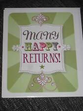 Muchos Feliz Devoluciones, tarjeta de felicitación en blanco, verde, orgulloso de ser fuerte, deseo de cumpleaños