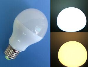 E27 7W A19 A60 LED Light Ceiling Globe Blub DC12~24V/ AC 12V White/Warm #O
