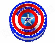 captain america edible cake topper eBay