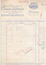DRESDEN, 2 x Rechnung 1942/44, Claus & Hofmann Regen-Garten-Schirm-Fabrik