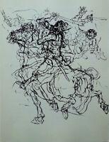 Claude WEISBUCH - Le Cavalier de la mort - POINTE SECHE #1966 + justificatif