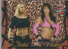 Victoria & Trish Stratus Divas 2005 Cat Fights Trading Card #53 WWE WWF TNA Tara