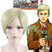 Attack on Titan Erwin Smith Short Blonde With Brown Anime Cosplay Wig