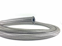 """Braided Fuel Oil Water Hose Stainless Steel 3/8"""", 10mm ID (1M)"""