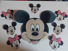 Large Edible precut Mickey Mouse cake and cupcake toppers