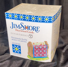 Dept 56 Jim Shore 4021343 Handmade Quilts Figurine New In Box Old Store Stock!