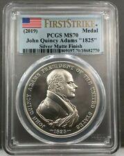 2019 John Quincy Adams 1825 Presidential Silver Medal PCGS MS70 First Strike